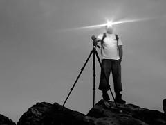 polifemo en el acantilado (f0t0m4t0n) Tags: espaa luz lumix persona spain gente explore amanecer ibiza frontal acantilado rocas quedada baleares 2010 1010 trpode flickeros joseeivissa laxanga lachanga soybuscadorgmailcom q101009