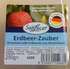 SanLucar Erdbeeren - Label