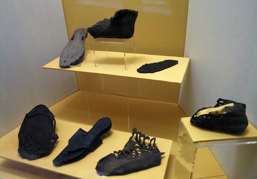Roman leather shoes, Vindolanda Archaeological Site, Britain 2009