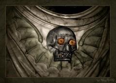 Happy Halloween! (Skyart82) Tags: halloween germany skeleton happy deutschland skull europe spooky horror nrw marble rheinland epitaph totenkopf brühl composing marmor gruselig schäde totenschäde