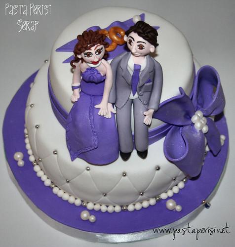 incili nişan pastası