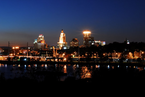 Providence at night
