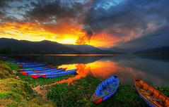 Phewa Lake Sunset - Pokhara, Nepal