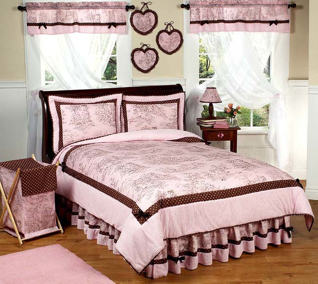 JoJo Designs Bedding | Pink Brown toile