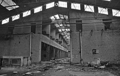 industrial building RZ01 #30 (jourbexia) Tags: industry industrial factory factories blackandwhite blackwhite bw black white grey gray greyscale grayscale mono monotone decay decayed decaying derelict dereliction abandoned disused empty europe european urbex urbanexploration ux urban exploration building buildings rural ruralexploration architecture interior inside italy italian