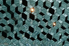 Harpa Ceiling #1 (catoledo) Tags: 2017 reykjavik cityscape iceland geometrical repetition glass reflections harpa