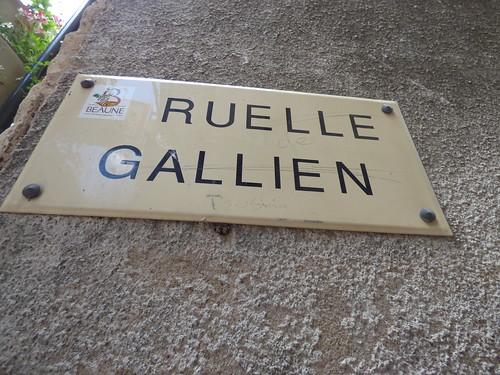 Rue Monge, Beaune - Ruelle Gallien - road sign