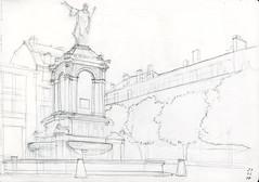 PLACE DE LA VICTOIRE CLERMONT FERRAND (Armando ALVES) Tags: clermontferrand place croquis dessin fontaine sketch architecture
