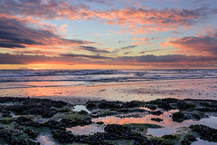 Tide Pool reflections (CloudRipR) Tags: sunset ocean water waves beach sand rocks reflections socal nikon d810
