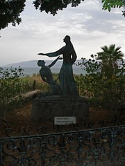 """Feed my sheep"" statue at Tabgha (Seetheholyland.net)"