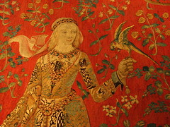 The Lady and The Unicorn tapestry detail (Sparky the Neon Cat) Tags: paris france museum lady de la europe du musee national age middle dame unicorn iledefrance ages cluny tapestry licorne moyen theladyandtheunicorn museedecluny museenationaldumoyenage ladamealalicorne
