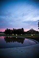 Reflejos.... (InVa10) Tags: sunset sky reflection tree water canon arbol atardecer eos sevilla spain agua andalucia badajoz cielo reflejo cartuja extremadura inva 450d