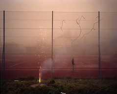 (Gebhart de Koekkoek) Tags: mamiya film night smoke 7 tennis rocket 6x7 feverray