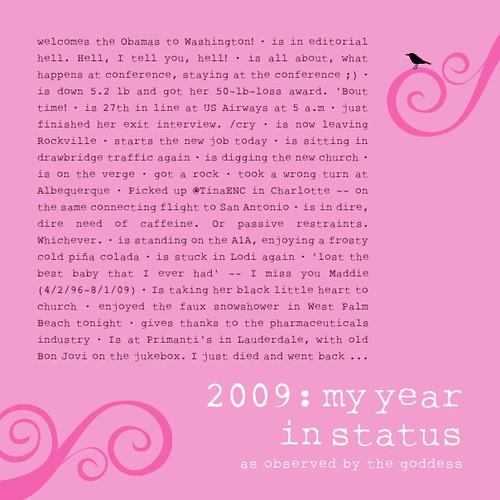 Best of Facebook Status Updates, 2009