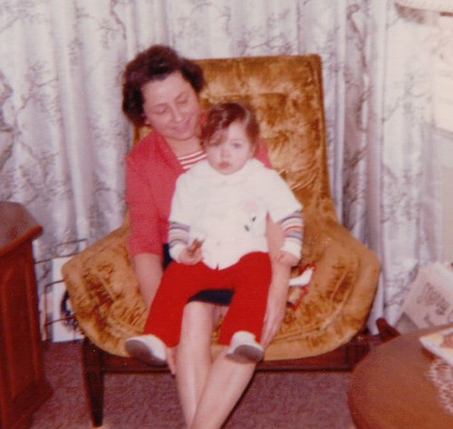 Becke with Edith Mama, Christmas 1973
