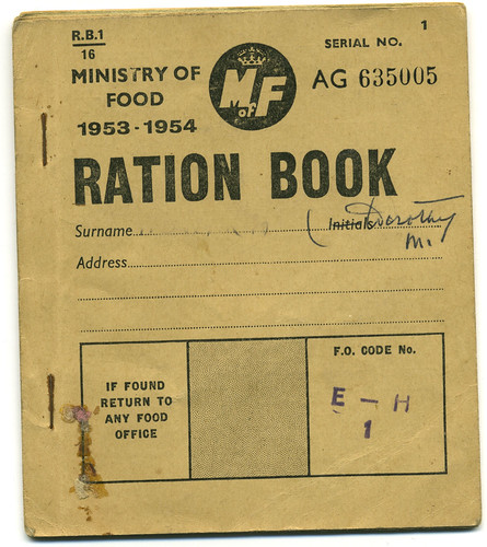 Britain still on ration in 1953