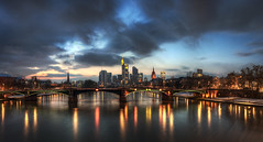 Chasing the Blue Hour (rawshooter72) Tags: urban skyline night canon eos long exposure frankfurt hdr hdri photomatix tonemapped 1000d