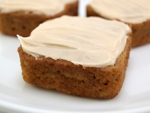 Apple carrot maple cakes with maple cream cheese frosting ...