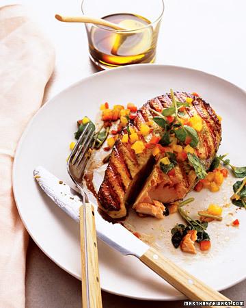 grilled salmon- martha