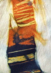 Landscape (tkikot) Tags: abstract art nature colors painting colours arte handmade drawing creative natura tribal draw dye astratto disegni colori disegno visualart astratta ambiente creativo surreale tessuto tintura abstracting sperimental tkikot
