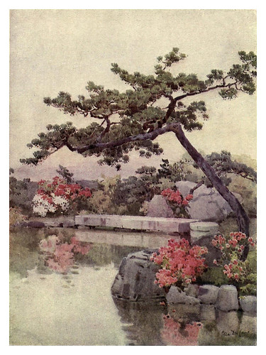 001- Azaleas en un jardin de Kioto-The flowers and gardens of Japan (1908)-  Ella Du Cane