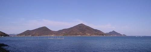 神島から望む