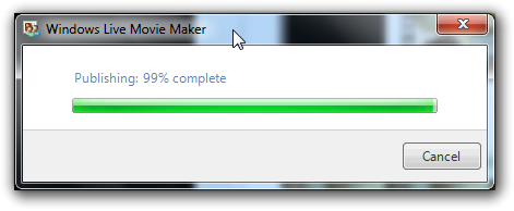 Publishing video directly to YouTube from Windows Live Movie Maker