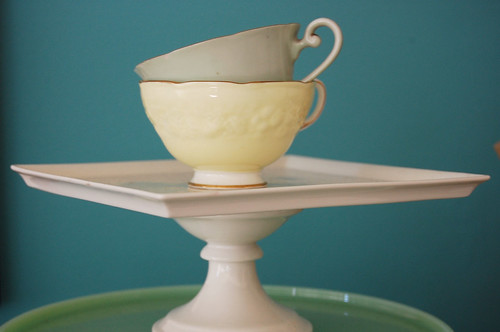 tea cups, stacked