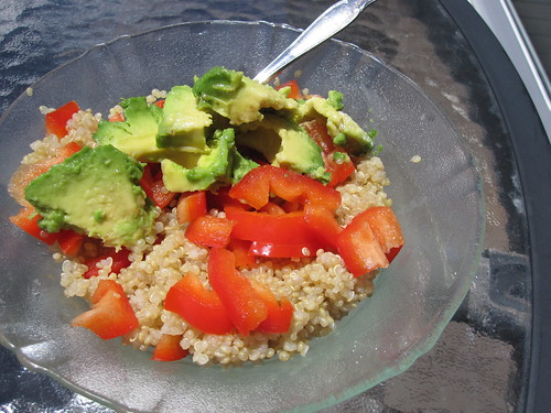 Quinoa with Avocado and Bell Pepper