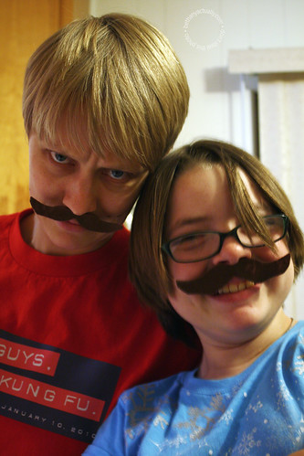 mustachioed posers
