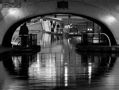 warning: headroom and width of tunnel varies (joeri-c) Tags: uk bridge people blackandwhite bw water night reflections lumix boat canal blackwhite birmingham december tunnel panasonic human railing blackdiamond mywinners artlegacy broadstreettunnel 100commentgroup artofimages fz38 platinumbestshot bestcapturesaoi fz35 elitegalleryaoi mygearandmepremium mygearandmebronze mygearandmesilver mygearandmegold dblringexcellence aboveandbeyondlevel1 aboveandbeyondlevel2