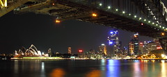 View of opera house from Luna Park (Passionforphotos) Tags: water harbour sydney australia lunapark nightview operahouse cityskyline cityview milsonspoint sydneyfestival