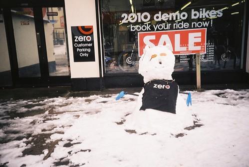 North Street snowman
