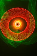 Laser spiro, elwire & twirly spinner (- Hob -) Tags: lightpainting laser nophotoshop possible spirograph elwire lapp sooc hypotrochoid  lightjunkies  lightartperformancephotography coulddowithacrop twirlyspinnything thehandsortofspoilstheabstraction wwwfacebookcompageslightpaintingorguk517424921642831