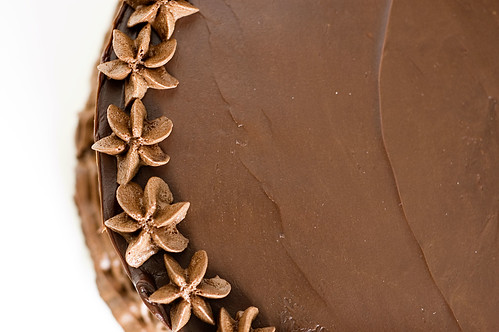 intense deep chocolate cake - top