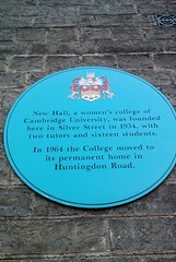 Photo of New Hall blue plaque