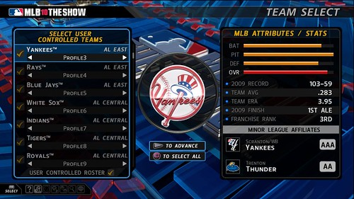 MLB 10: The Show Team Select