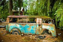 1952 Tempo Matador 1000 (Peter Bromley) Tags: old bus cars abandoned graveyard car rural nikon rust automobile d70 nikond70 sweden decay rusty swedish abandon swamp rusting scrapyard left tempo 1000 decaying bromley urbex matador bilar ke danielsson junkheap kyrkmosse skroptbilar
