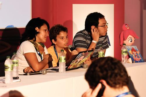 Na Campus Party 2010, durante o debate
