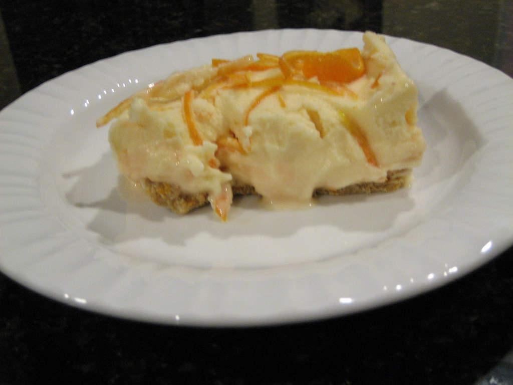 Frozen Creamsicle Cake