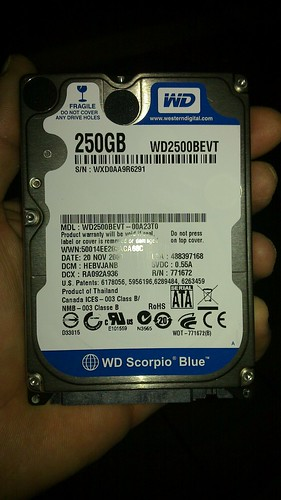 Nuevo disco duro laptop.