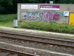 Rails AMF (oerendhard1) Tags: streetart station graffiti tag rail vandalism spraypaint piece aerosol railways amersfoort railart dutchdamage