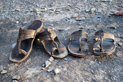 Handmade footwear from Dharwad (Adesh Singh) Tags: village footwear mobileresearch dharwad chappal dharwar templesofindia hoobli