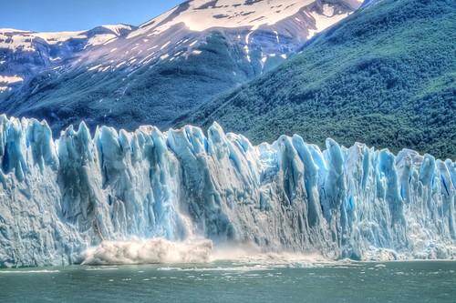 A Chunk Falls Off Perito Moreno Glacier