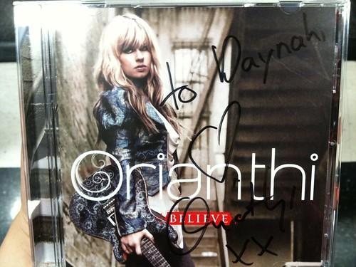 Autographed Orianthi CD!
