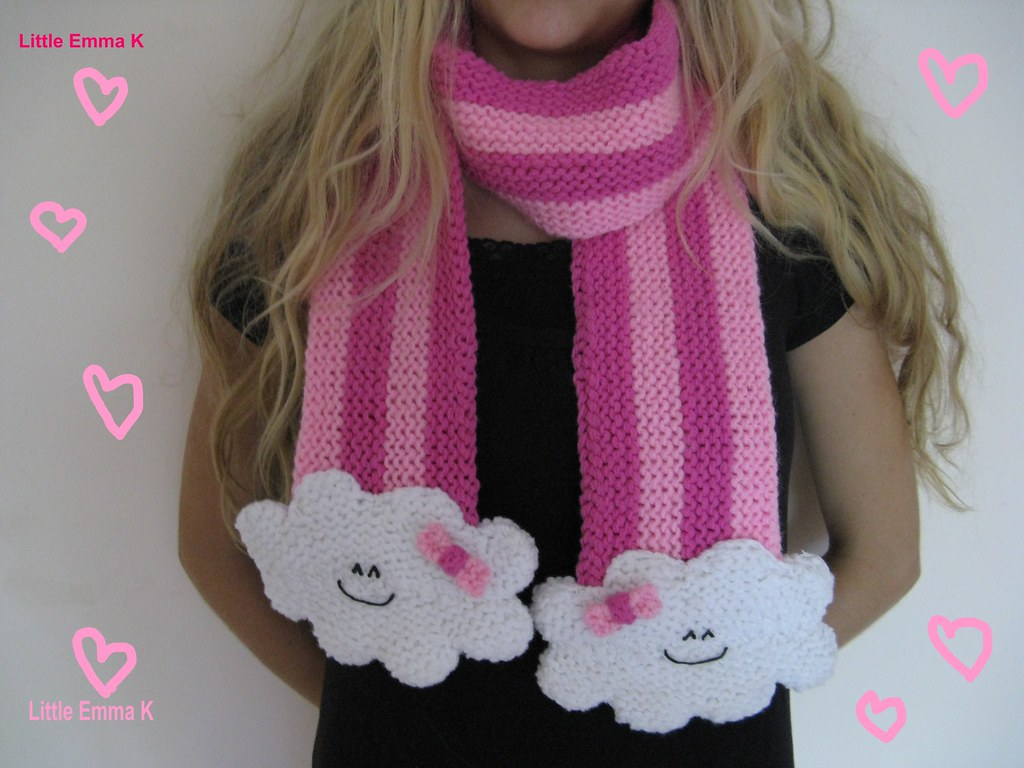 The Cutest Cloud Scarf Ever ... Knit & Crochet Patterns Available!
