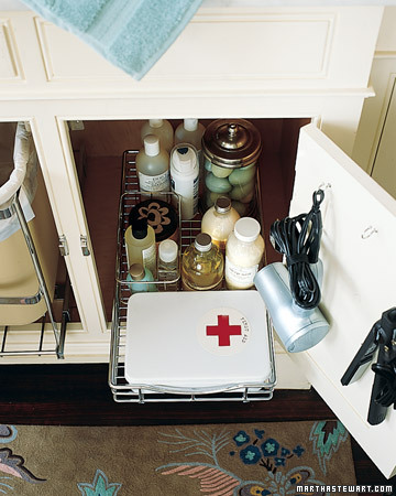 Bathroom Organization - Martha Stewart