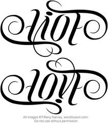 """Live"" & ""Love"" Ambigram"