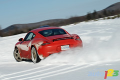 Porsche Winter Test (Auto123.tv) Tags: blue winter red snow canada car yellow automobile snowy transport porsche transportation motor cayman boxster automobiles slalom drift vehicule boxsters skidpad powerslide wintertires mecaglisse comparo auto123 matthieulambert canadianautomotivenetwork