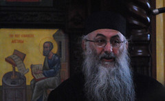 Archiamandrite Zacharias of St John the Baptist Monastery in Essex England lecturing in Dallas, Texas Feb 2010 (http://www.flickr.com/photos/saint-nicholas/4345787767/in/set-72157623400813646/)